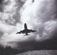 boeing 747 landing on runway 13 - right at j.f.k. international airport, june 24 by frank schramm