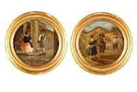 escenas satíricas (pair) by leonardo alenza y nieto