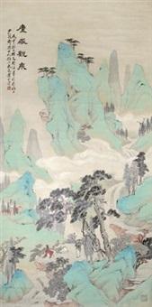 庐岳观泉 by huang shanshou
