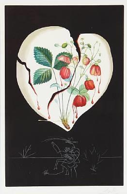 coeur de fraises by salvador dalí