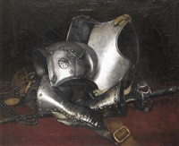 a suit of armour by ludwig deutsch