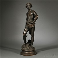 figure of david by adrien étienne gaudez