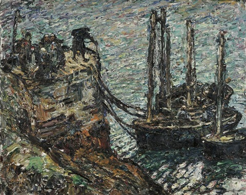 finistere breton fishing boats by walter griffin