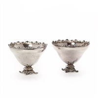 two round bowl enchased with four sweeping (pair) by kay bojesen