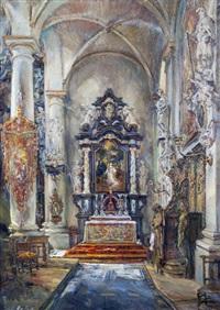 autel de la nef latérale de l'église saint-gommaire by frans ros