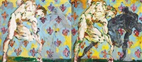 dancers (diptych) by thomas ackermann