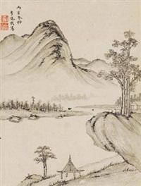 湖光秀色 (landscape) by li qizhi