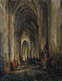intérieur d'église by frans ros