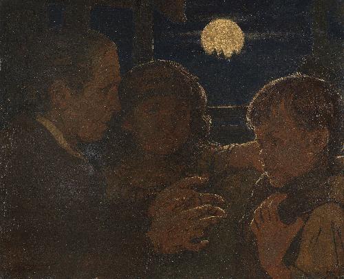 märchenerzählerin ii by hans thoma
