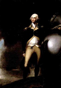 portrait of president george washington by emanuel gottlieb leutze