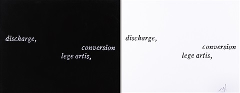 discharge conversion lege artis dittico seriale by joseph kosuth