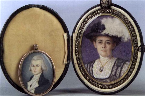 mrs. johnston a. armstrong, né amelia leake (incl. miniature of francis c. leake) by helen maria turner