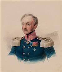 portrait of an officer wearing the maltese cross by vladimir ivanovich hau