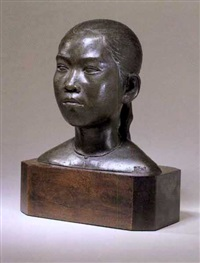 head of a vietnamese girl by t.g. quoi