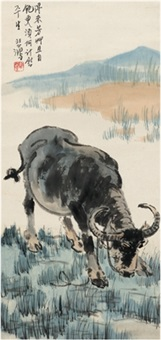 耕牛图 (buffalo) by xu beihong