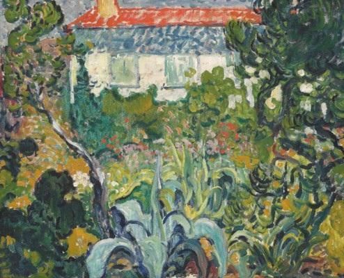 Le jardin de la maison au toit rouge von Louis Valtat auf artnet
