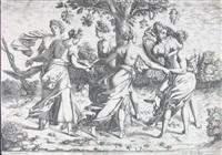 der tanz der dryaden (after rosso fiorentino) by pierre milan