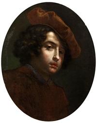 bildnis eines jungen mannes mit rot-braunem barett by cesare dandini