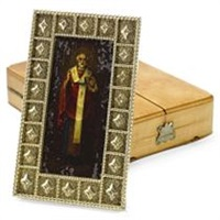 icon of saint nicholas (for fabergé) by johann viktor aarne