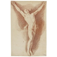 male academy study for a crucifixion by nicolas-sébastien adam