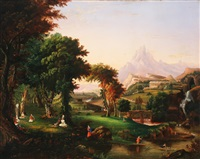 scene in arcadia by e. gray