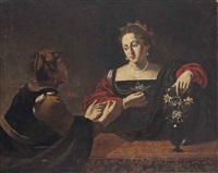 martha and mary magdalene by michelangelo merisi da caravaggio