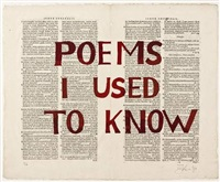 poems i used to know by william kentridge