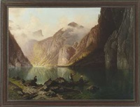 am königssee by theodor (wilhelm t.) nocken