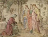 abraham und die engel gottes (der besuch in mamre) by philipp veit