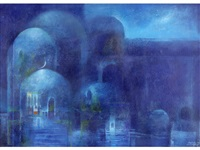 blue domes by suad al-attar
