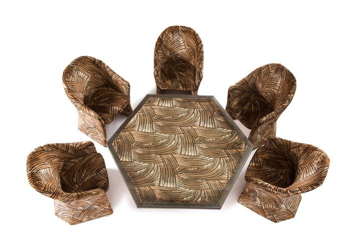 Safari Dining Table And Six Chairs Von Pierre Cardin Auf Artnet
