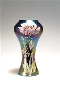 vase mit chrysanthemen by ferdinand von poschinger
