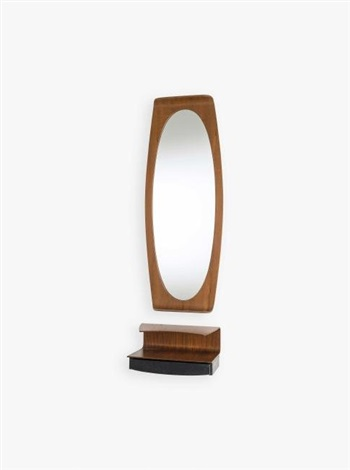 Specchio da parete con mensola von Franco Campo and Carlo ...