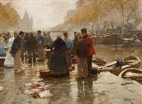 fischmarkt in amsterdam by hans herrmann