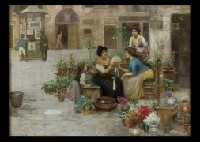 flower seller by cesare vianello