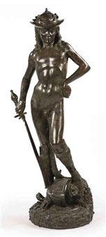 figure depicting david by donatello