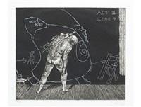 act iii, scene 9 (from ubu tells the truth) by william kentridge