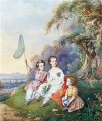 die kinder der familie lackenbacher auf gut engelsfeld bei budapest by albert doctor