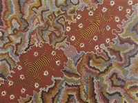 two perentie dreaming by clifford possum tjapaltjarri