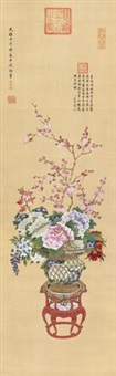 百花争艳 (flowers) by empress dowager cixi