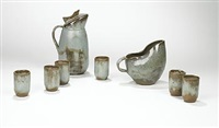 ceramic tea service (set of 8) by polia and william pillin