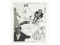 forswearing bad company (from the industry and idleness series) by william kentridge