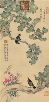 梧桐八哥 (flowers and birds) by empress dowager cixi