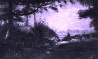 la clairière, effet de lumière après midi by henri du voisin