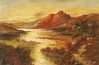 loch at sunset by g.l. cameron