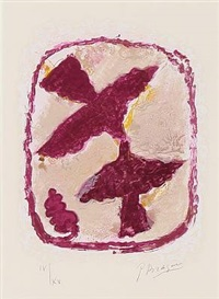 oiseaux fulgurants (from lettera amorosa) by georges braque