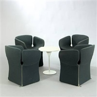 bloomy coffee table and four chairs (set of 5) by patricia urquiola