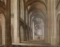 das innere einer gotischen kathedrale by hendrick van steenwyck the younger