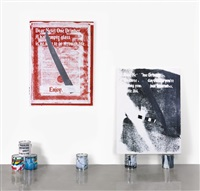 untitled (from the series: guyton\walker: empire strikes back) by kelley walker and wade guyton