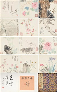 various subjects (album of 13) by wu hufan and zhu jingbo